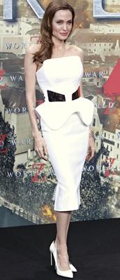 dress,dream it wear it,clothes,white,white dress,bandage,bandage dress,sleeveless dress,strapless,bodycon,bodycon dress,gold,gold dress,peplum,peplum dress,celebrity,red carpet,red carpet dress,summer,summer dress,summer outfits,elegant,elegant dress,classy,party,party dress,sexy,sexy dress,midi,midi dress