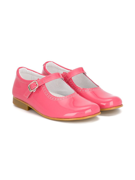 scalloped leather purple pink shoes