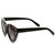 Indie Trendy Womens Block Cut Oversize Cat Eye Sunglasses 9160                           | zeroUV