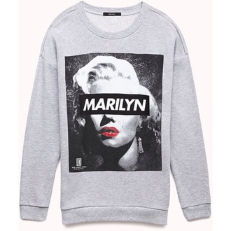 sweatshirt marilyn monroe dope wishlist