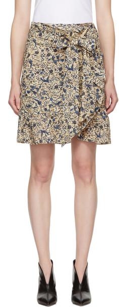 Isabel Marant etoile miniskirt beige skirt