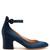 Greta block-heel satin pumps