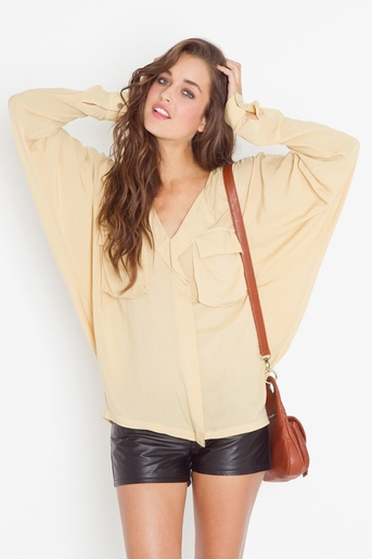 Utility batwing blouse in  clothes tops at nasty gal