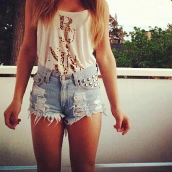 studded studded shortshigh waisted shorts denim shorts