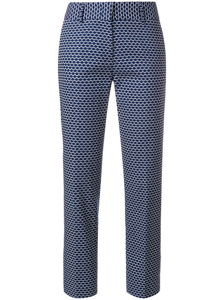 Piazza Sempione embroidered women spandex cotton blue pants