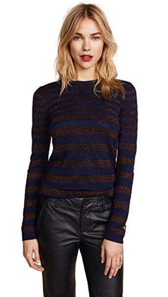sweater navy burgundy