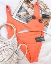 bikini top,pink bikini,swimwear