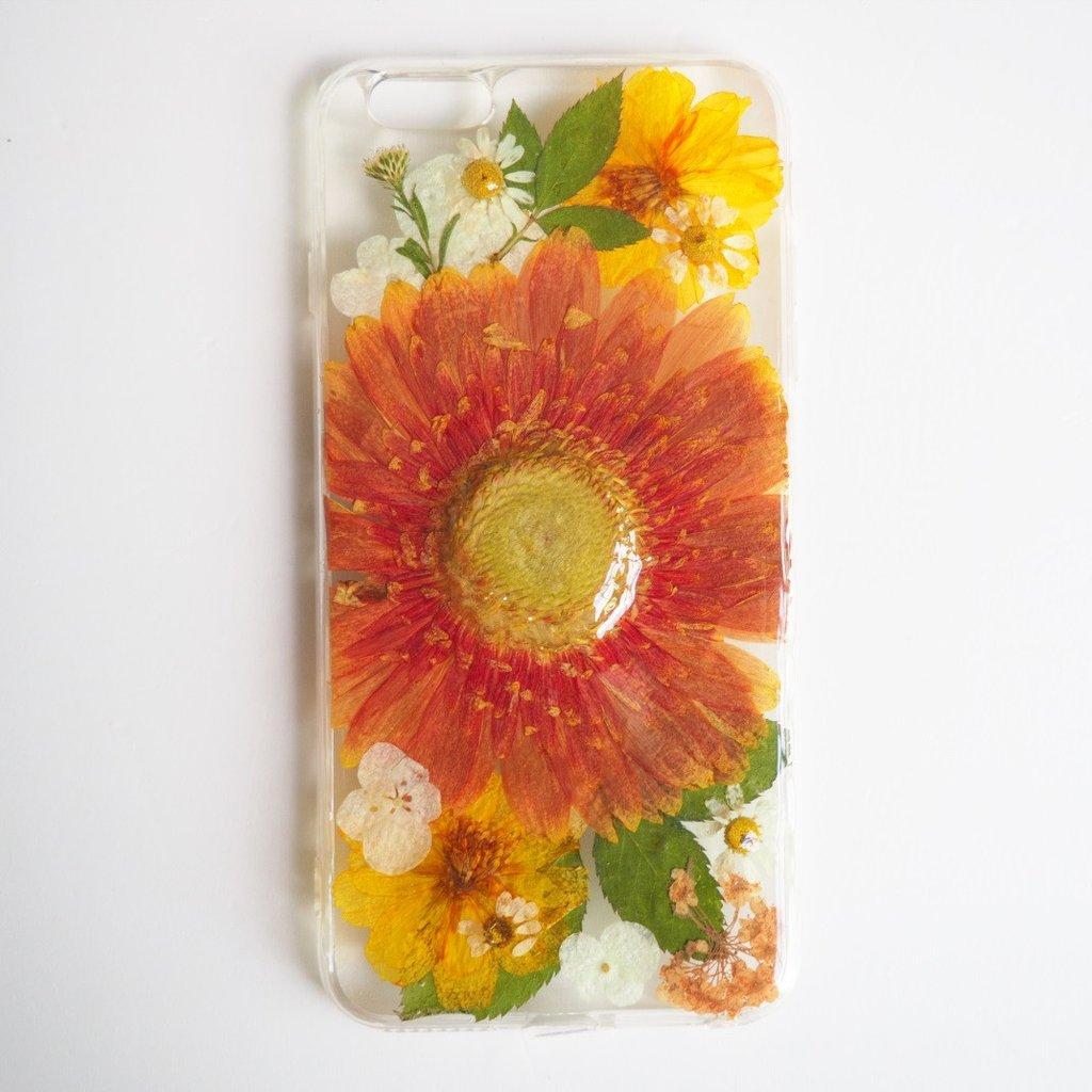 The Fancy Orange (押し花電話ケース)