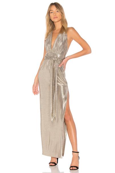 Rachel Zoe gown metallic gold dress