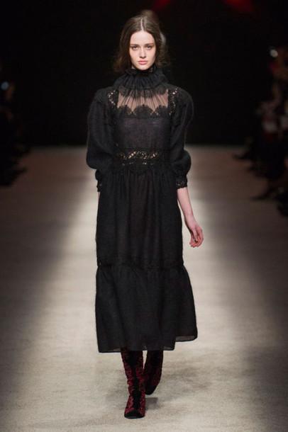 dress lace black maxi dress lace dress goth choker necklace lace choker