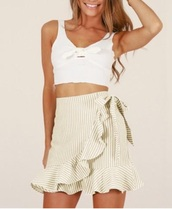 skirt,girly,girl,girly wishlist,mini,mini skirt,stripes,cute,summer,summer outfits,ruffle