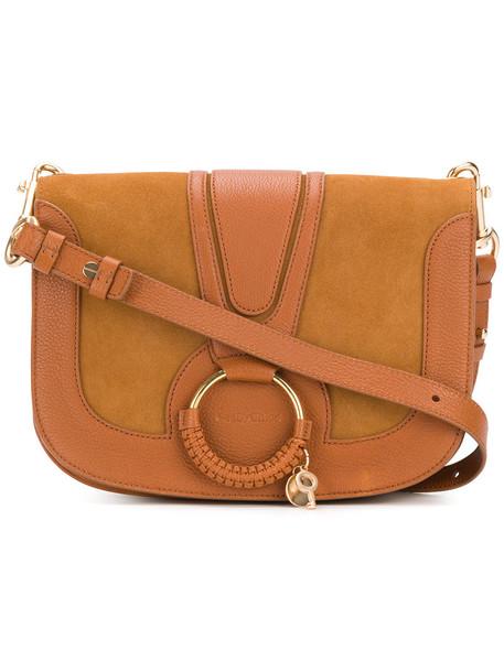 See by Chloe women bag shoulder bag cotton suede brown