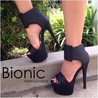 shoes black high heels high heels spring stylish