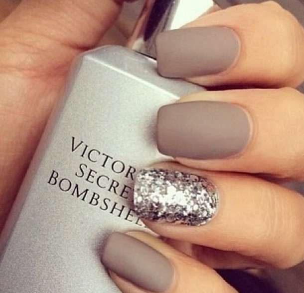nail polish, victoria\'s secret, nail accessories, nude, glitter ...