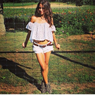blouse crop tops lace white crop tops shorts