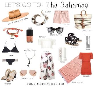 sincerely jules blogger hat jewels shorts bag nail polish sunglasses shoes