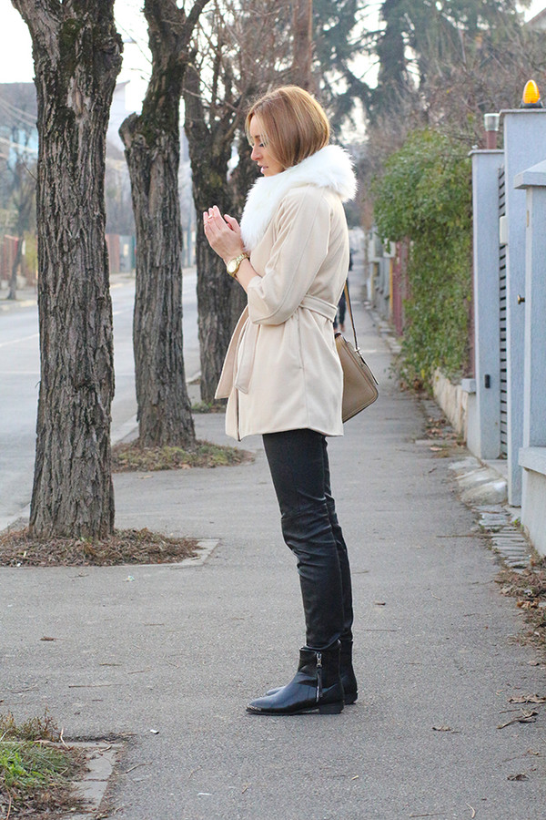 fashion spot coat shoes