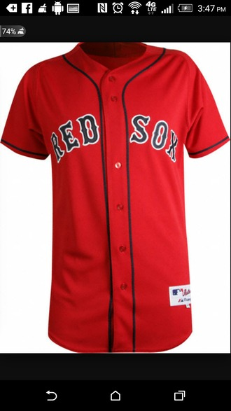 shirt red jersey red sox authentic jersey
