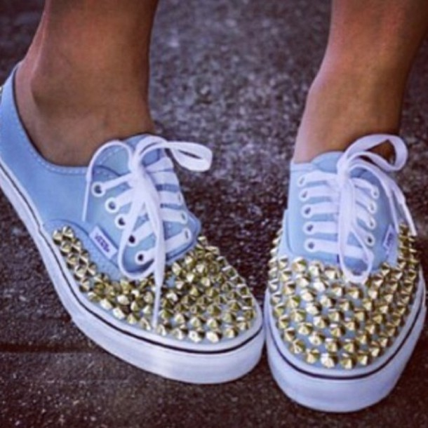shoes vans light blue girly stoods