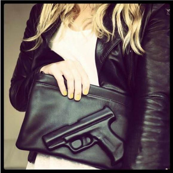 bag gun vlieger & vandam emobossed message bag day crushed shoulder bag