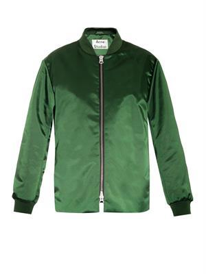Fuel Shine satin bomber jacket | Acne Studios | MATCHESFASHION...