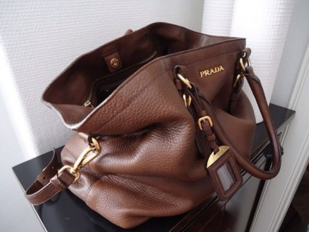 chanel executive tote replica - Bag: brown leather bag, prada - Wheretoget