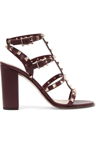 embellished sandals leather sandals leather burgundy shoes