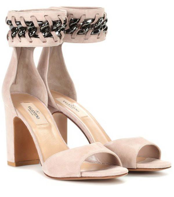 Valentino Garavani suede sandals in pink