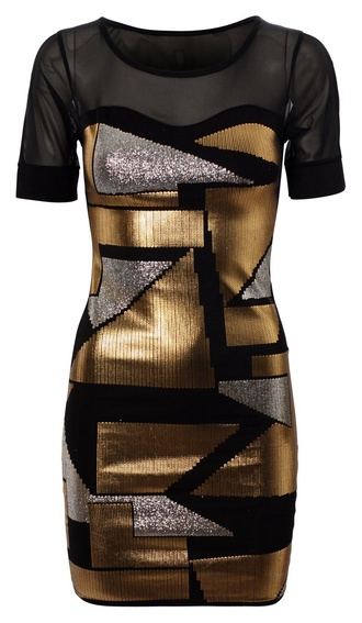 metallic dress dress
