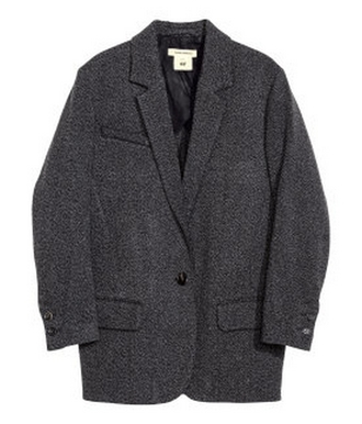 grey oversize clothes coat isabel marant isabel marant h&m collection isabel marant pour h&m isabel marant h&m gris laine blazer hiver manteau oversize jacket