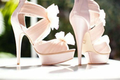 shoes,high heels,pink,flowers,cute,rose shoes,sweet,rose,heels,rose high heels,girly,girl,tumblr girl,brand,bow heels,white