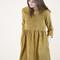 Cara mustard corduroy smock dress