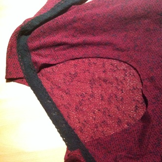 sweater red wine red back cut polyester cotton winered back cut outs back cut out