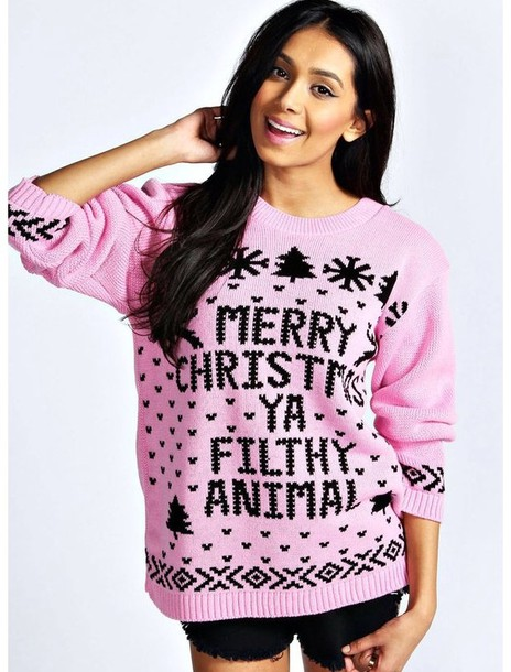 Sweater: pink, home alone, christmas, quote on it, pink sweater ...