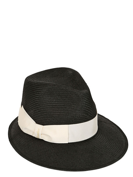 Borsalino hat straw hat white black