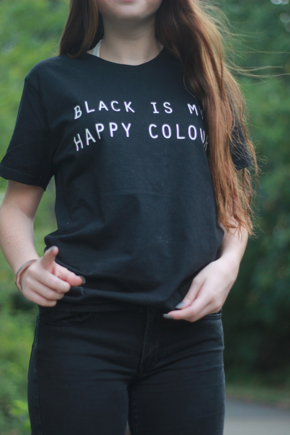 T shirt black is my happy color - Black Is My Happy Colour Tshirt Tumblr Blogger Instagram Happy Color Shirt