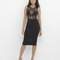Electric lady sheer black midi bodycon dress at flyjane