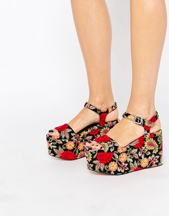 shoes asos kurt geiger platform shoes sandals floral