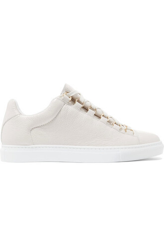 sneakers leather white off-white shoes