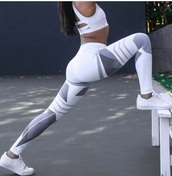 leggings,girly,girl,girly wishlist,white,grey,workout leggings,tights