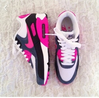 shoes air max pink nike running shoes nike shoes nike air sneakers nike air max neon pink airmax 90 pink nike air max 90 trainers air max free runs trainers sneakers nike black pink nike trainers style swag sportswear romper