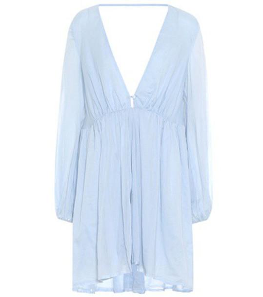 KALITA dress cotton blue
