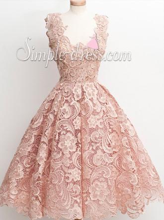 dress 50s style lace dress simple-dress