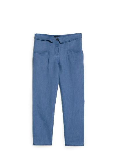 folded waist trousers
