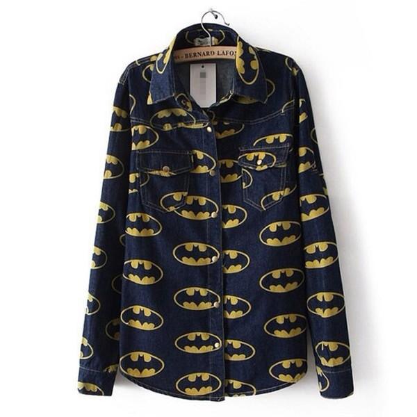 blouse shirt top batman shirt