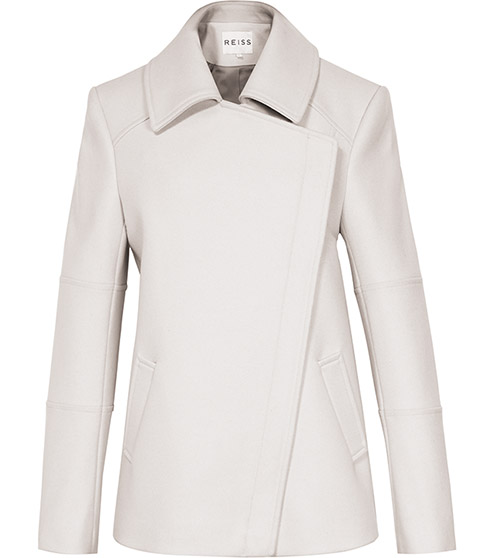 Lyndon White Asymmetric Zip Jacket - REISS