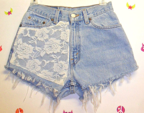 Vintage Levis high waisted  denim shorts by GypsysTreasureCove