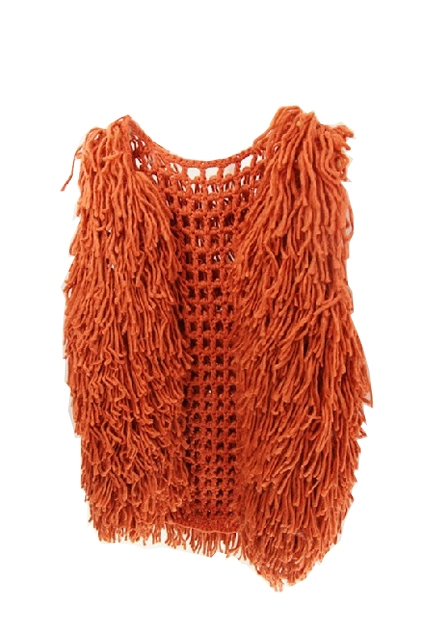 Tassel Cotton Thread Vest - OASAP.com