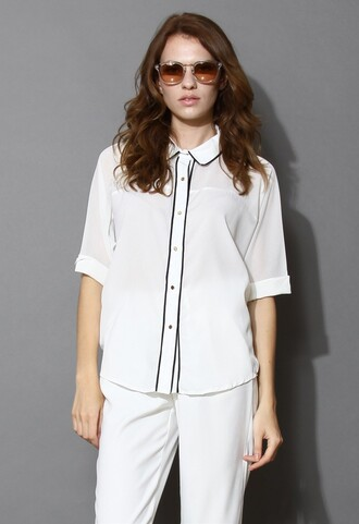 chicwish batwing crepe shirt