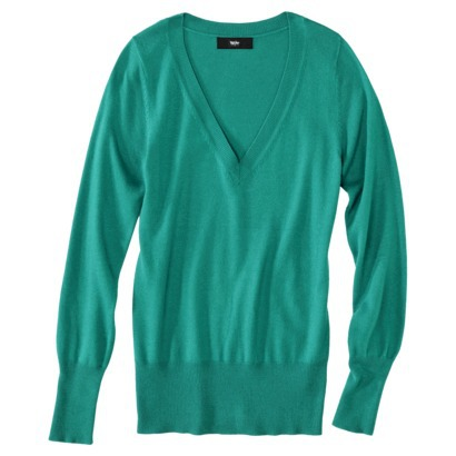 Mossimo® Petites Long-Sleeve V-Neck Pullover... : Target